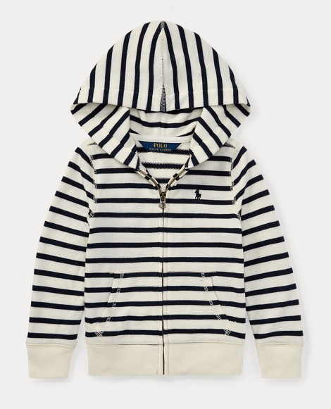 Striped Terry Full-Zip Hoodie