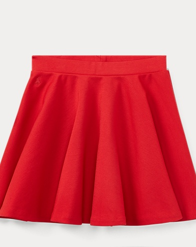Stretch Ponte Pull-On Skirt