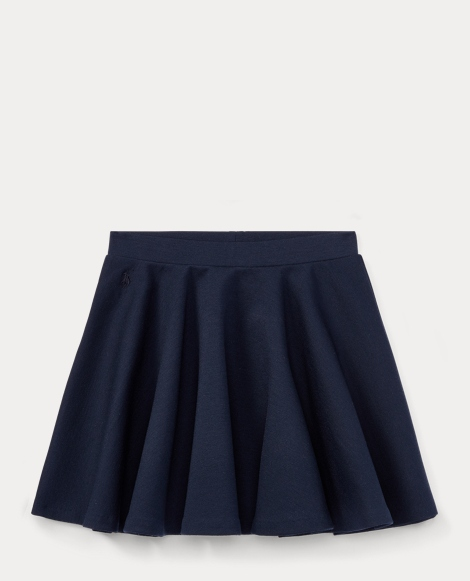 Stretch Ponte Pull-On Skirt