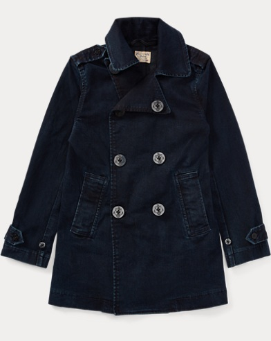 Stretch Denim Peacoat