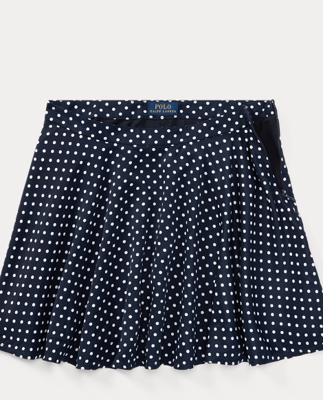 Polka-Dot Twill Circle Skirt