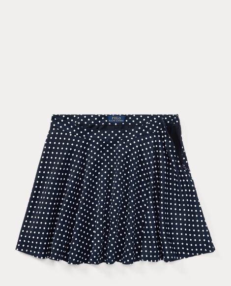 Polka-Dot Twill Circle Skirt