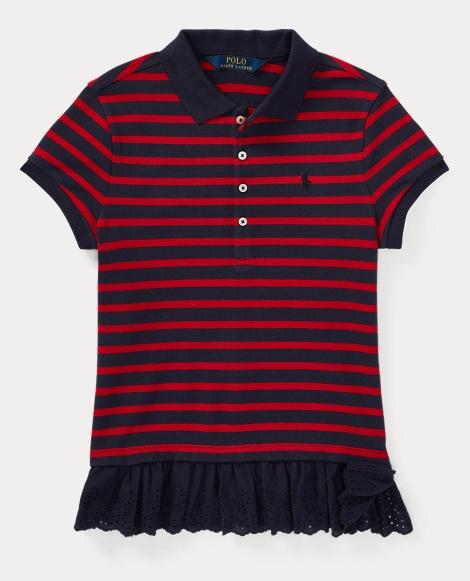 Eyelet-Hem Stripe Polo Shirt
