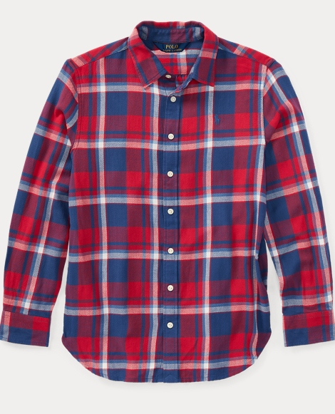 Plaid Cotton Flannel Shirt