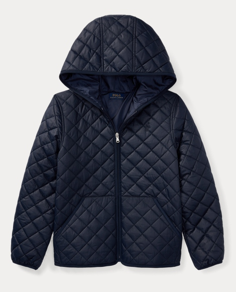 Quilted Hooded Full-Zip Jacket