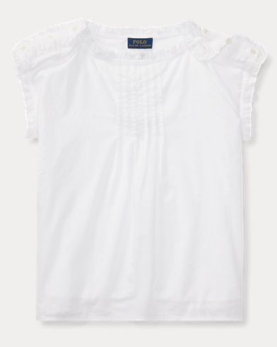 Pintucked Cotton Batiste Top