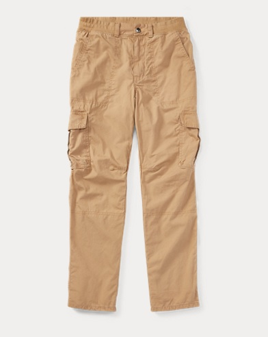Tapered Cotton Poplin Pant