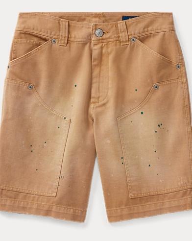 Paint-Splatter Chino Short