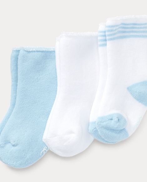 Terry Cuffed Ankle Sock 3-Pack