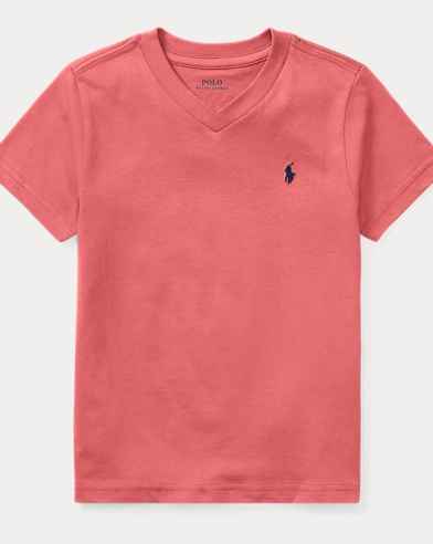 Cotton Jersey V-Neck T-Shirt