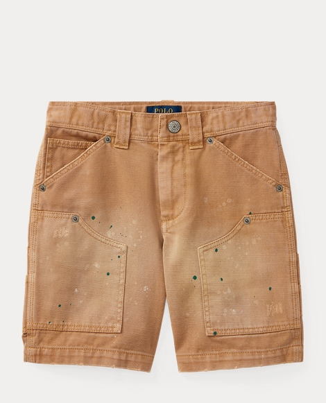 Paint-Splatter Chino Short