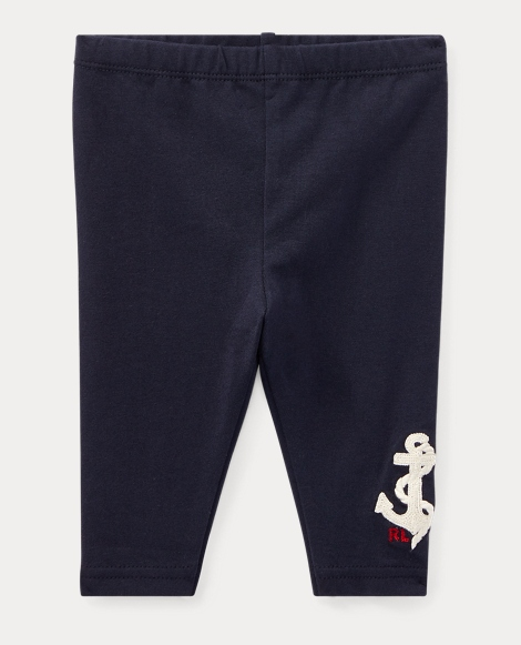 Nautical Embroidered Legging
