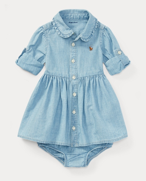 Chambray Shirtdress & Bloomer