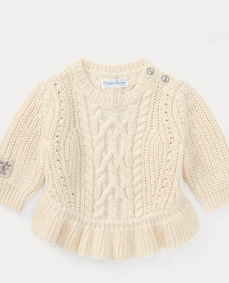 Aran Cotton-Blend Sweater