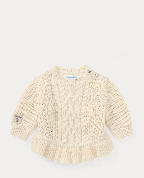 Aran Cotton-Blend Sweater