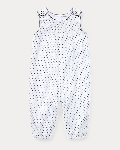 Polka-Dot Cotton Coverall
