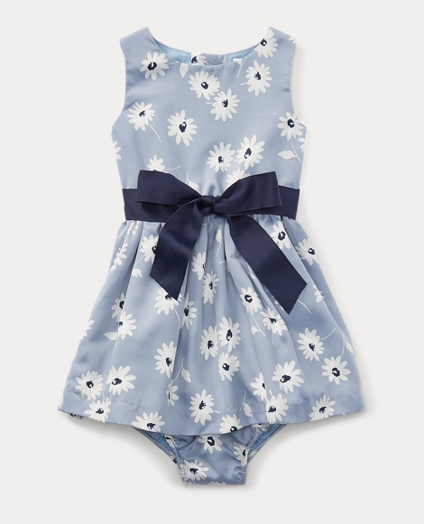 Floral Twill Dress & Bloomer