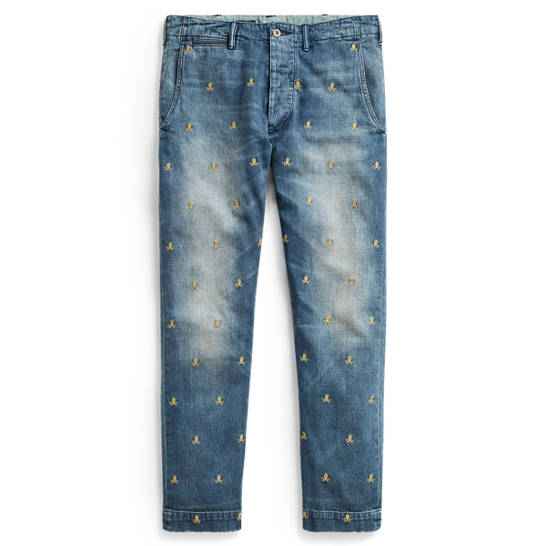 Ralph Lauren Slim Fit Embroidered Jean Irving Embroidered 28