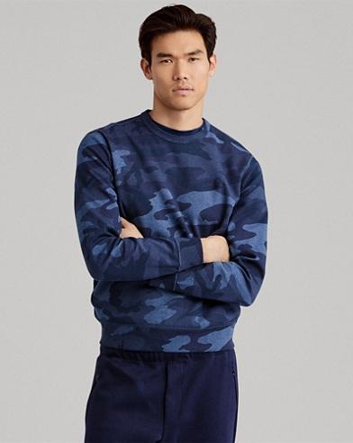 Camo Cotton-Blend Sweatshirt
