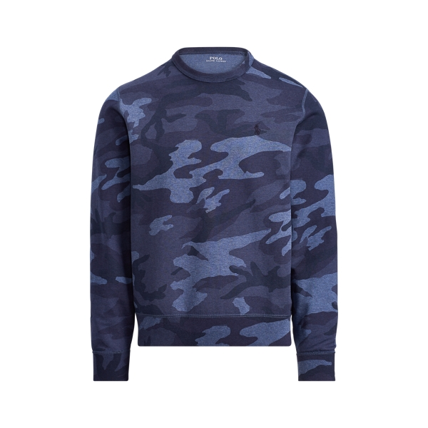 Ralph Lauren Camo Cotton-Blend Sweatshirt Blue Camo M