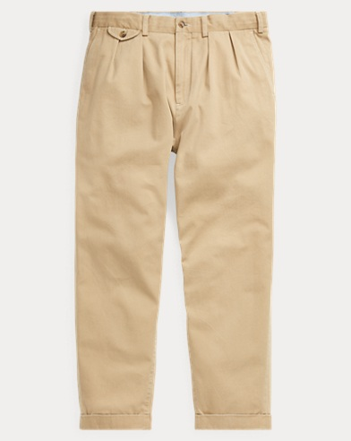 Relaxed Fit Pleated Chino