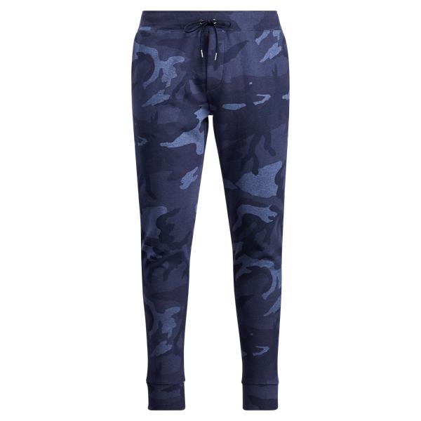 Ralph Lauren Camo Double-Knit Jogger Blue Camo S