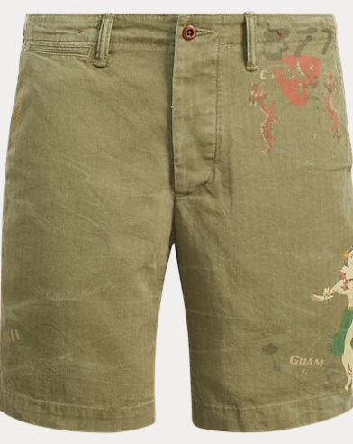 Relaxed Fit Cotton Cargo Short