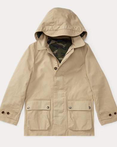 Cotton Hooded Walking Coat