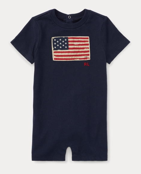 Flag Cotton Jersey Shortall
