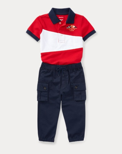 Cotton Polo & Jogger Pant Set