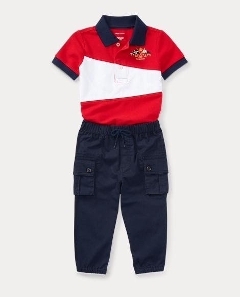 Cotton Polo & Jogger Pant Set