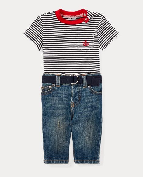 T-Shirt, Belt & Jean Set