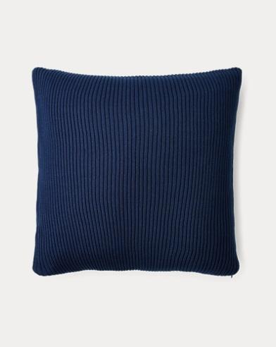 Flora Rib-Knit Throw Pillow