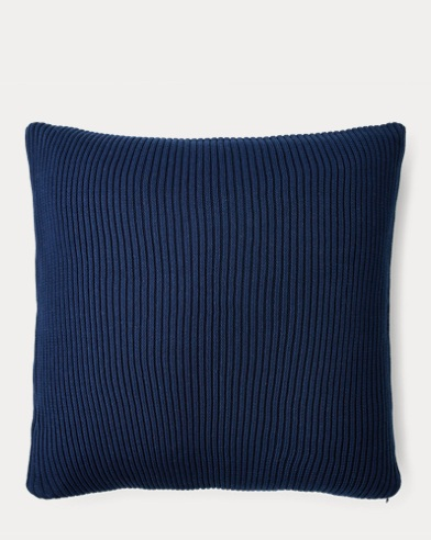 Flora Rib Knit Throw Pillow