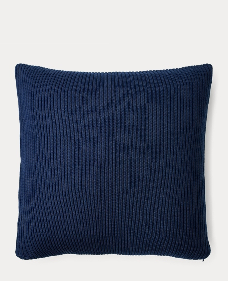 Flora Rib-Knit Throw Pillow
