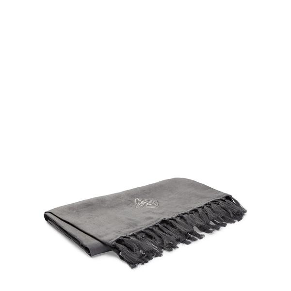 Ralph Lauren Aldrich Linen Throw Blanket Charcoal/Grey 54