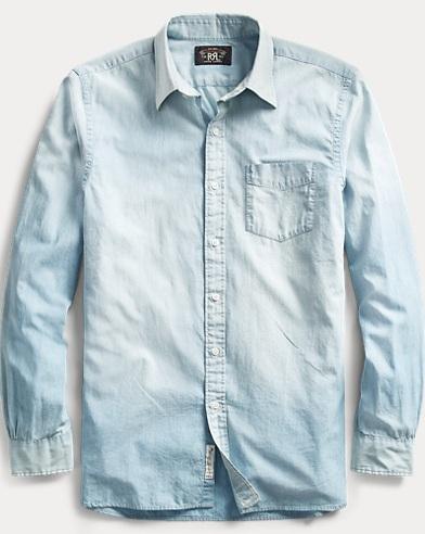 Chambray Poplin Dress Shirt