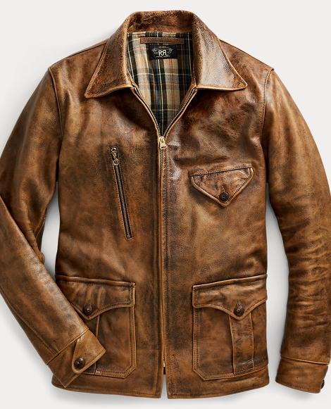 Leather Newsboy Jacket