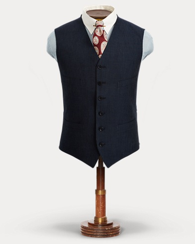 Pinstripe Cotton-Wool Vest