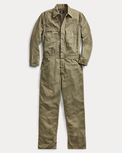 Cotton Herringbone Coverall