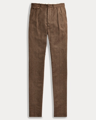 Windowpane Wool-Cotton Pant