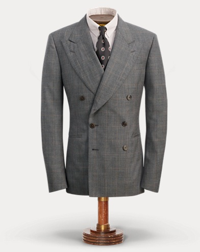 Plaid Wool Suit Jacket