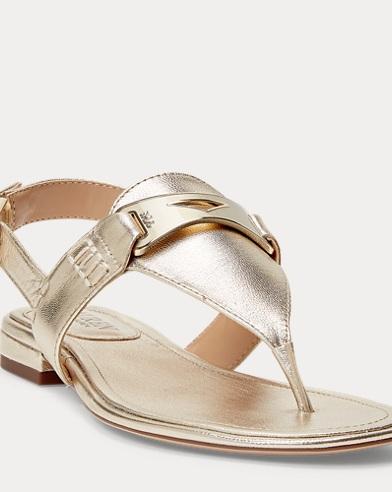 Dayna Metallic Thong Sandal