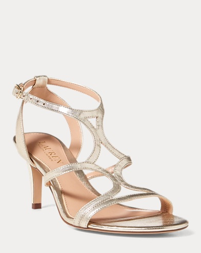 Gilah Metallic Leather Sandal