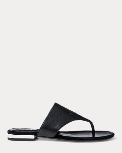 Deandra Leather Thong Sandal