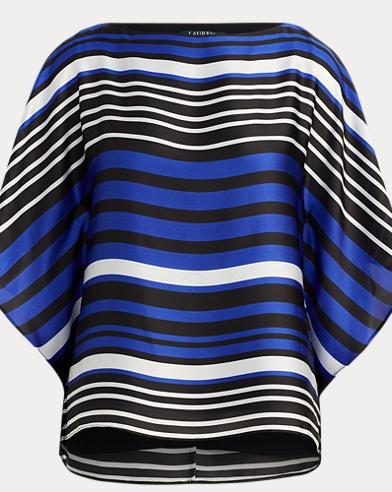Striped Satin Dolman Top