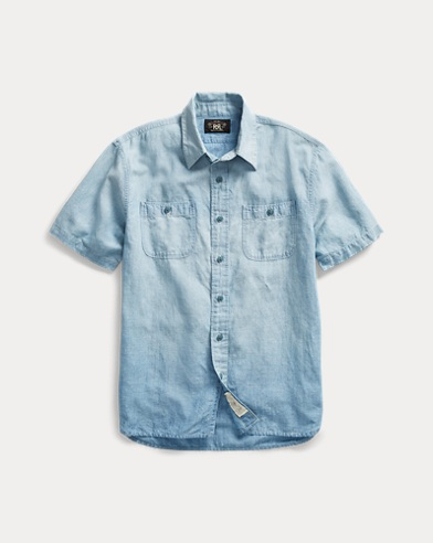 Cotton-Linen Chambray Shirt
