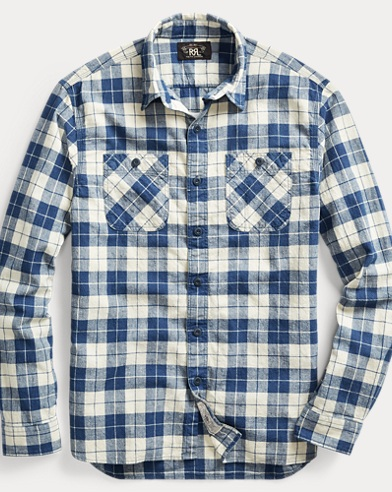 Plaid Cotton-Blend Workshirt