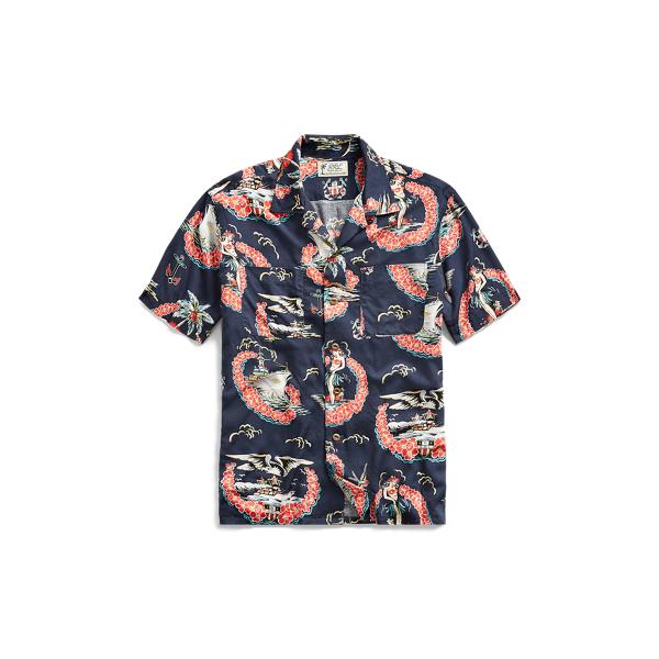 Ralph Lauren Tropical-Print Camp Shirt Rl 997 Navy Multi S