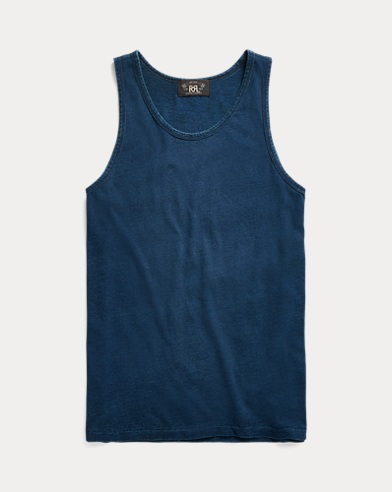 Indigo Cotton Military Tank